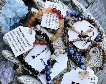 Gemstone Bracelets >> chakra | energy | natural | handmade | peace | gift | mala