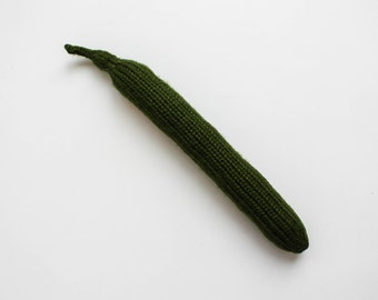 Soft toy veggie - cucumber play food - Waldorf toy for toddlers - gift for foodie - kitchen decor - play kitchen vegetables pretend play toy