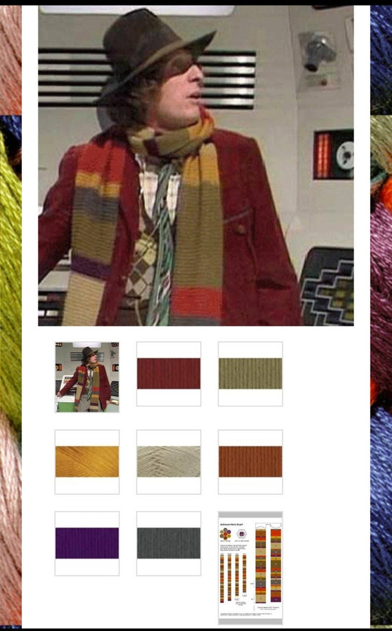 Dr Who 4th Doctor Scarf Yarn Kit Etsy