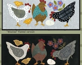 Chicken Pattern - Wool Applique Patterns - Hens and Chicks ATN 1613