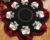 Snowman Applique Table Mat Pattern CPD 113 - Festive Snowmen Pattern