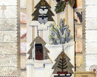 Christmas Wool Ornaments -  Woodland Ornaments Pattern - Christmas Decor -  #BMB 1369