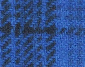 Hand Dyed Felted 100 Wool Fabric - Sky Blue Plaid Approx 12.5 quot x 17 quot - Applique Wool Fabric - Rug Hooking Wool Fabric