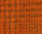 Weeks Dye Works Hand Dyed and Felted 100 Wool Fabric - Pumpkin Glens Plaid Approx 9 quot x 10 quot or 9 quot x 18 quot - Applique Wool Fabric