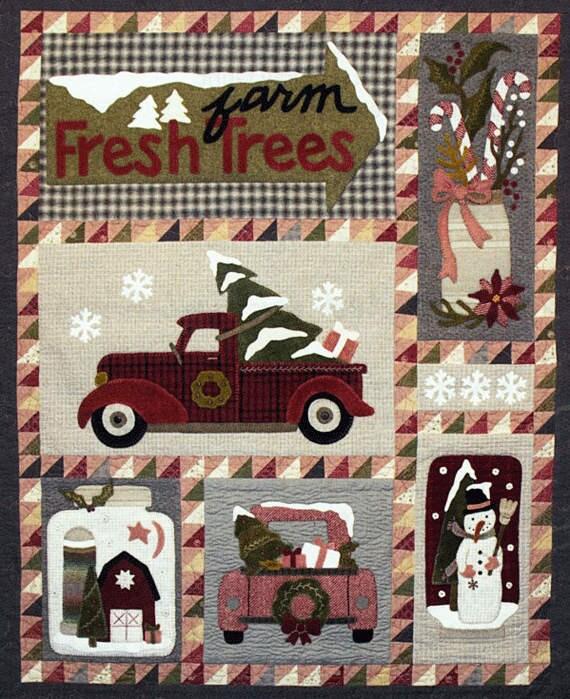 Christmas Truck Wool Quilt Wool Applique Patterns Winter
