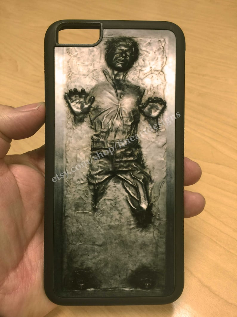 low priced 70113 ae477 Star Wars Han Solo Frozen in Carbonite iPhone 8/7/6 Case 8+/7+/6+ Case