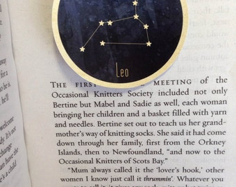Leo Star Sign Zodiac Constellation Magnetic Bookmark