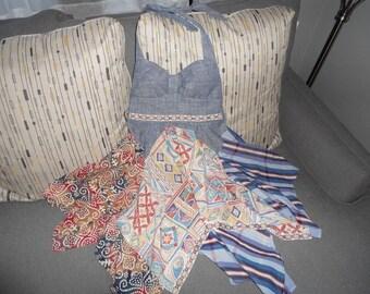 Boho Cotton Halter top tunic top size 10