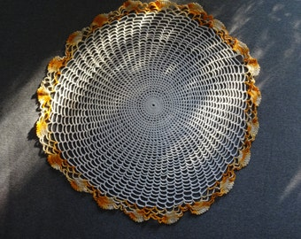 Large 20 inch Vintage Hand Crocheted Doily
