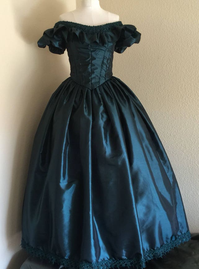 Custom 2 Piece Civil War Ball Gown Southern Belle Costume | Etsy