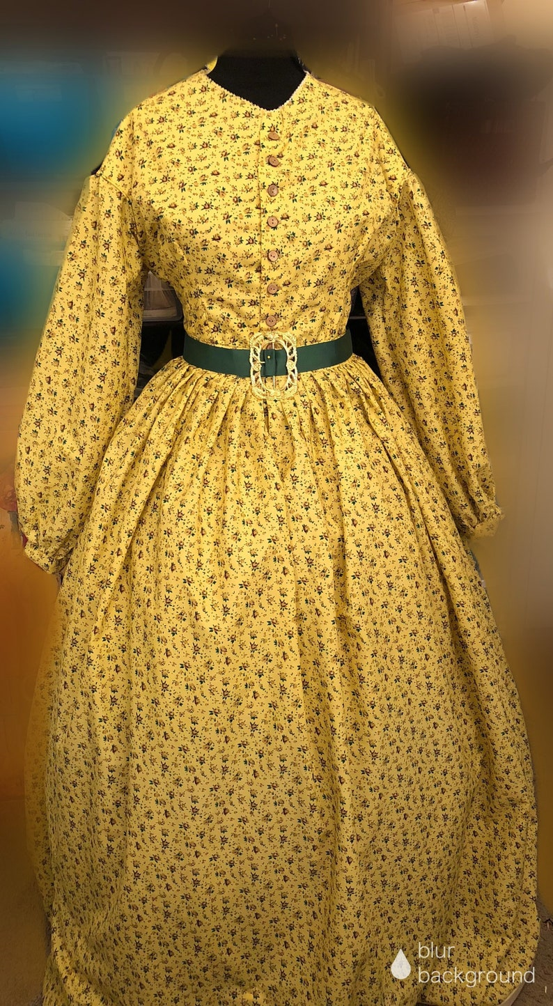 Victorian Clothing, Costumes & 1800s Fashion Custom 2 Piece Mid-Victorian Camp Dress Gettysburg Lincoln Reenactments Victorian Dress Civil War Dress Costume $250.00 AT vintagedancer.com