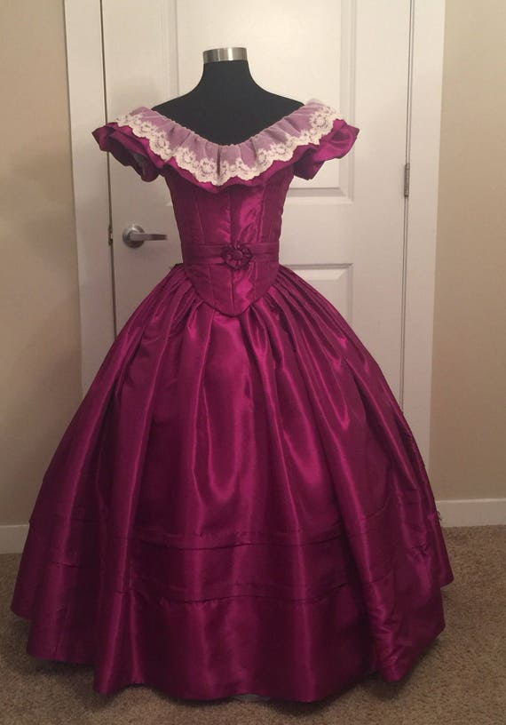 Custom Victorian 4-Piece Ball Gown Victorian Civil War | Etsy
