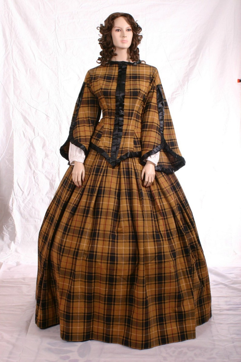 Victorian Dresses | Victorian Ballgowns | Victorian Clothing Custom Victorian 4 Piece Ensemble Day Travel Gown $400.00 AT vintagedancer.com