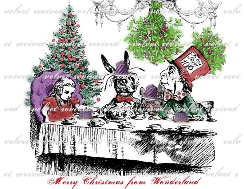 Merry Christmas in Wonderland  Original Digital Collage  image 0