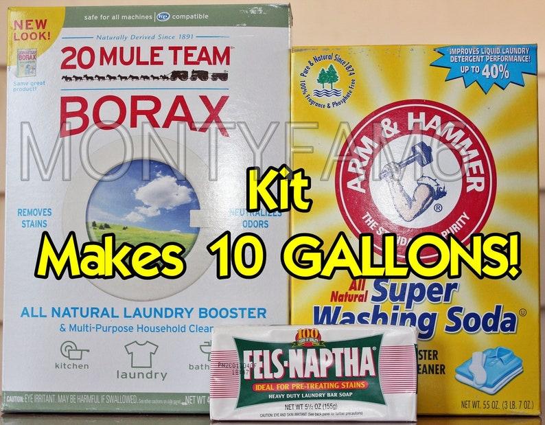 10 Gal Kit Fels Naptha Soude Borax Savon à Lessive Maison Etsy