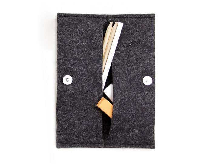 Shop W1001 Wool FELT Stylish Folding Pouch Online - Oliday