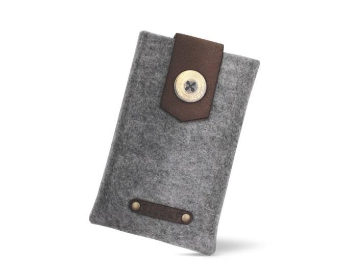 Shop W1022 Wool FELT Pouch Online - 100% Wool FELT & Leather
