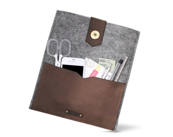 Buy W1024 iPad Case Online at OLIDAY - Wool FELT & Leather ipad Case