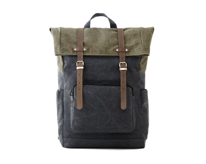 Buy Gray Color CITYCARRY Canvas Laptop Backpack Online