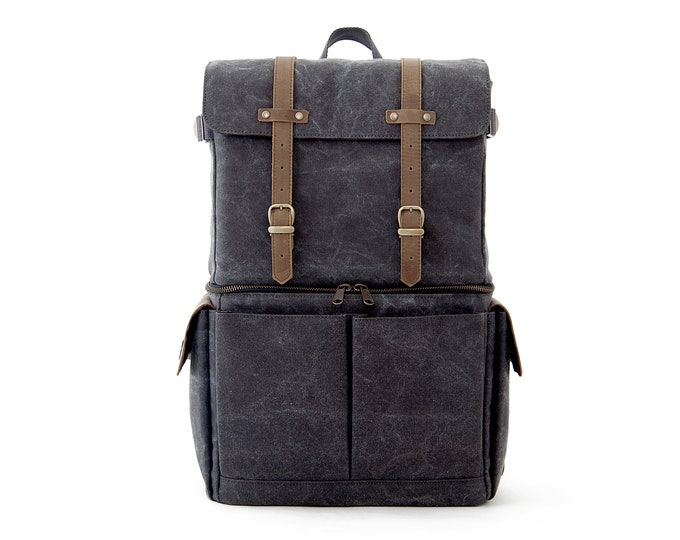 JOURNEYMAN / Camera+Laptop Backpack / Gray / Canvas