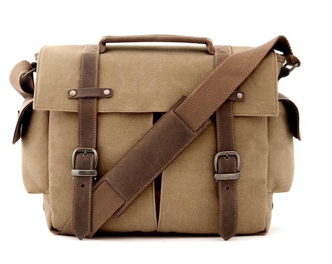 TRIAL / Messenger Camera + Daily Bag / Tan / Canvas