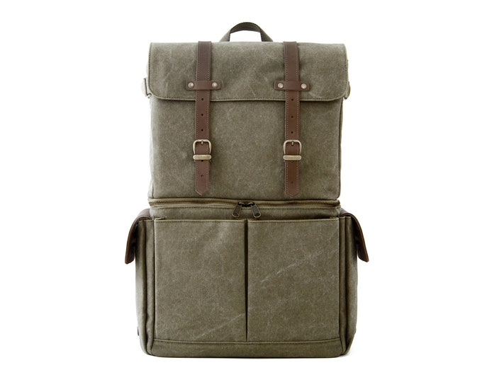 JOURNEYMAN / Camera+Laptop Backpack / Green / Canvas