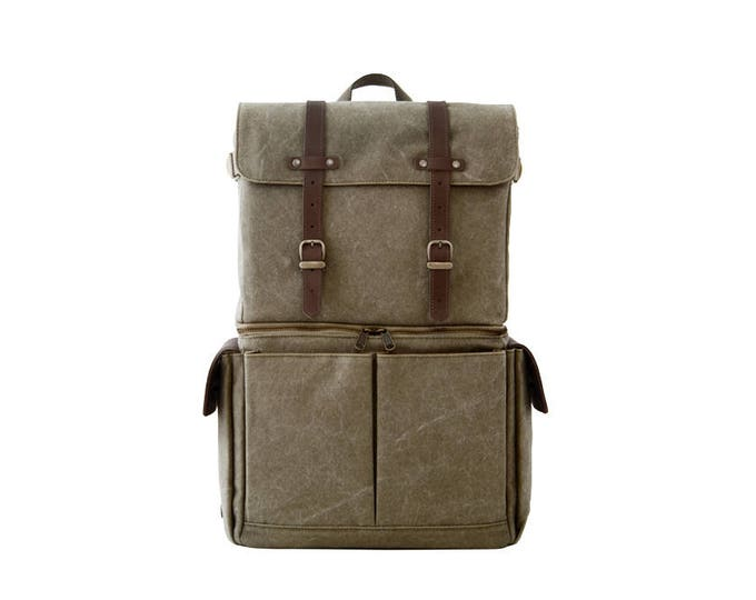 PRE ORDER / JOURNEYMAN Camera Laptop Backpack / Green Canvas