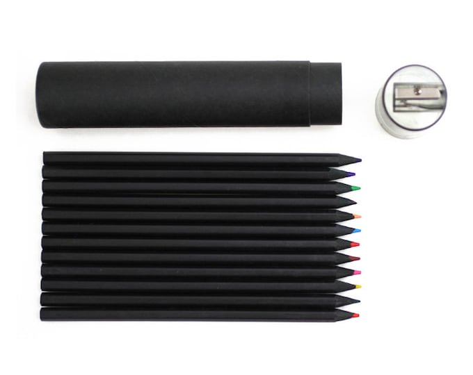 Buy G2002 Black Color Pencil Set Online at Oliday - 12 Color Pencils