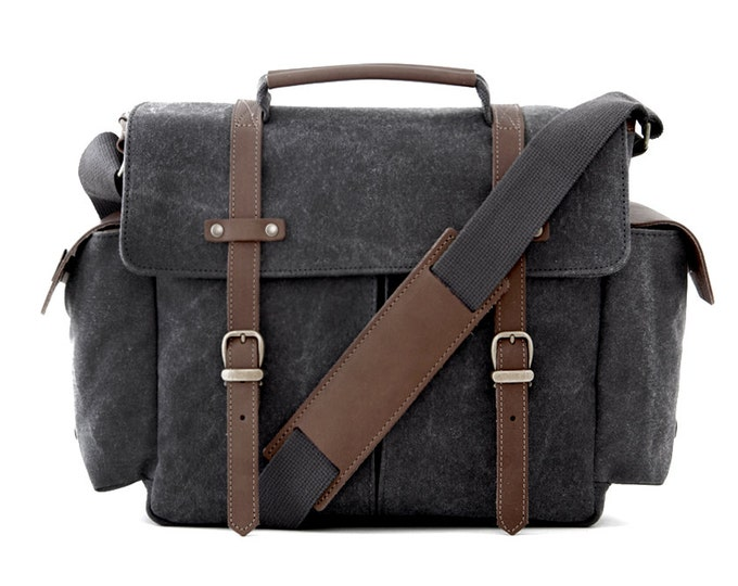 TRIAL Messenger Camera Bag Online - Buy Grey Canvas Messenger Bag