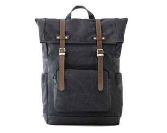 CITYCARRY / Laptop + Travel Backpack / All Gray Canvas