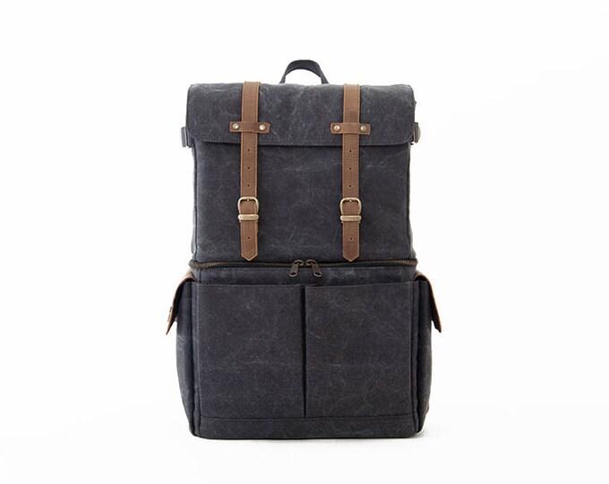 Travel Bag - Buy Canvas Journeyman Grey Color Camera+Laptop Backpack