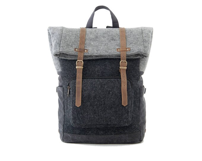 Shop CITYCARRY WOOL BLACK Canvas Backpacks Online