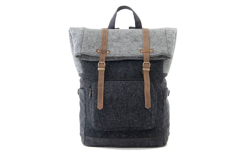 3a7545798a Laptop Backpack Laptop Bag School Backpack Wool Felt