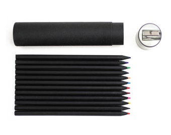 Buy G2002 Black Color Pencil Set Online at Oliday - 12 Color Pencils