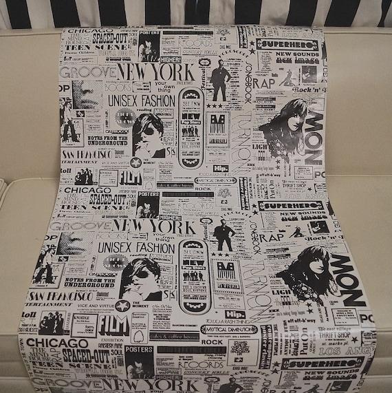 60s 70s Pop Art Advertising Print Vinyl Upholstery Fabric Rare Etsy