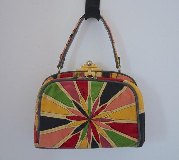 Emilio Pucci Handbag / Mod 60s Pucci Velvet Handba