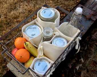 Mason Jar Nest, zero waste, bulk shopping, bottles, jar lunch divider insert, made to order