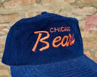 73767e27b06 Vintage 80s Chicago Bears Corduroy Snapback Trucker Hat