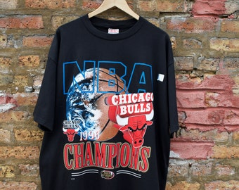 91668580f Vintage 1996 Chicago Bulls Deadstock Championship T-Shirt | NBA World  Champions Earth Basketball Funky 90s | Michael Jordan Scottie Pippen