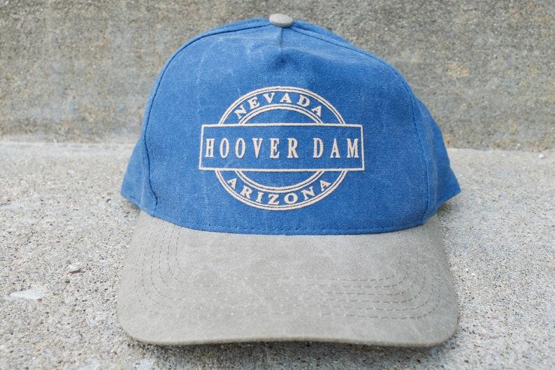 Nevada Arizona Grand Canyon Lake Mead Strapback Baseball Cap Vintage 90s Hoover Dam Hat National Park Hiking Southwest Blue Gray Hat