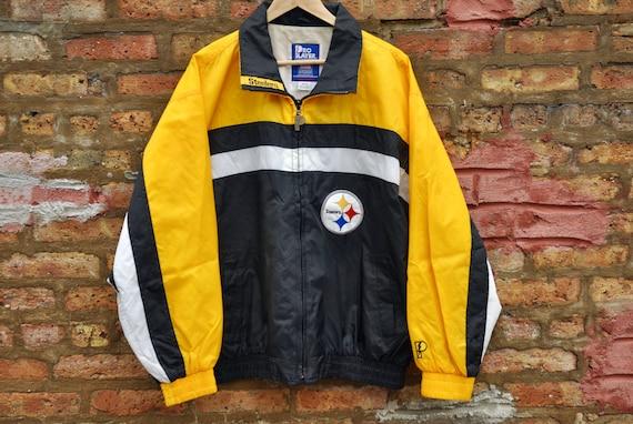 Vintage 80s Pittsburgh Steelers Windbreaker Retro NFL Nylon  dc0c0b6b3