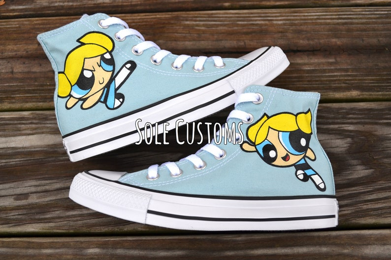 8778fb7545fb Custom Converse Power Puff Girls Shoes