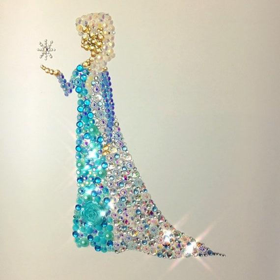Disney Frozen Elsa Decoration Wall Art Baby Gift Girls Bedroom Etsy