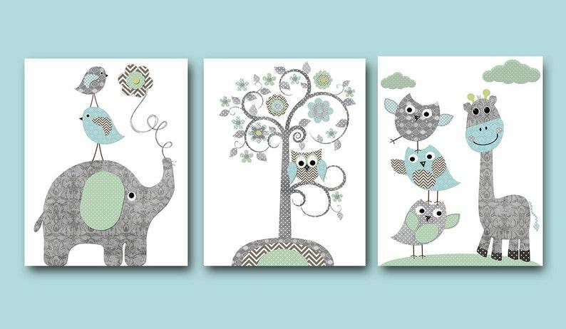 Baby Boy Nursery Art Print Nursery Wall Art Kids Wall Decor image 0