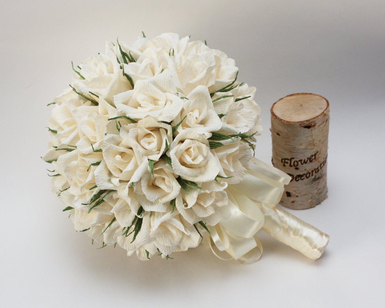 Wedding bouquets paper flower bouquet bridal bouquet etsy zoom izmirmasajfo