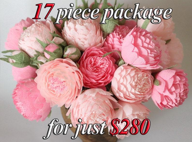 Paper flowers paper wedding bouquet bridal bouquet paper image 0