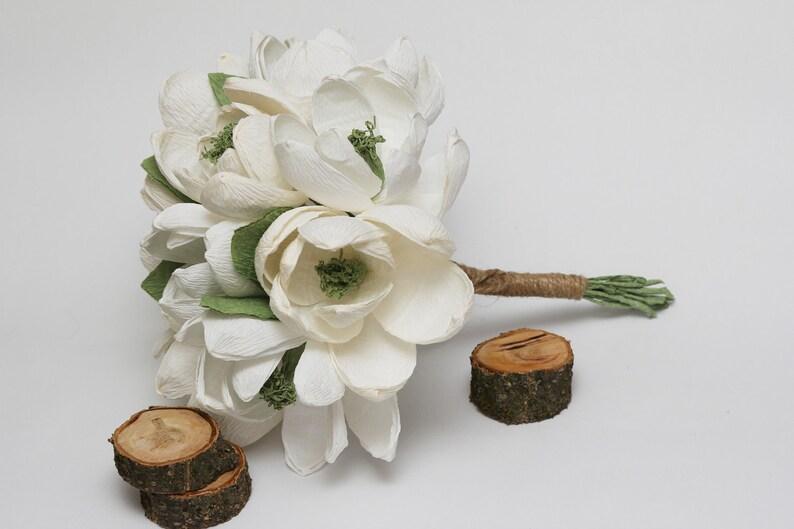 Rustic wedding bouquet rustic magnolias bouquet image 0