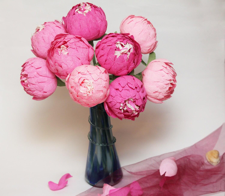 Paper Flowers For Weddings: Paper Flowers Peonies Wedding Flowers Paper Centerpieces