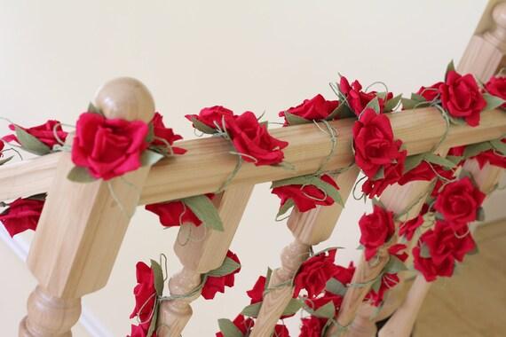 Paper garland wedding garland flower garland wedding flower etsy image 0 mightylinksfo