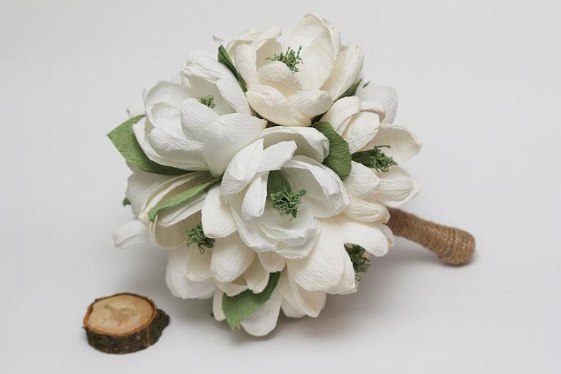 Rustic Wedding Bouquet  magnolia bouquet image 0